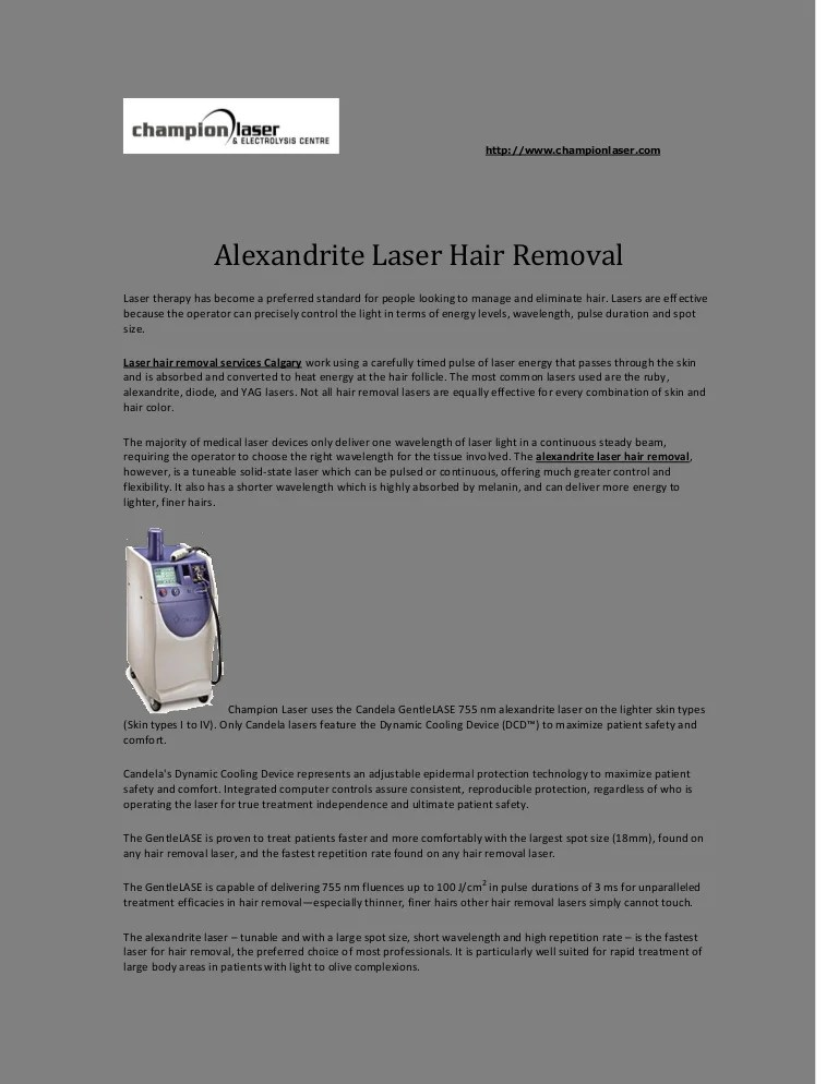 Alexandrite Laser Hair Removal Ideas And Designs