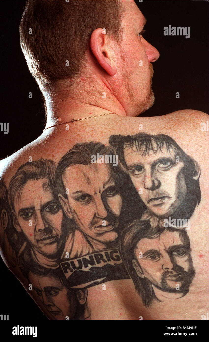 Andy Drummond Who Has The Group Runrig Tattoo Ed On His Ideas And Designs
