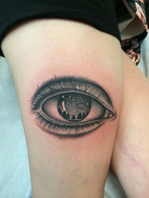 My Fresh Big Dipper In Eye Tattoo By Jared Sark Of Ideas And Designs