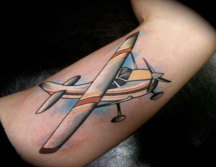 Have A Look At These Plane Tattoos Hush Kit Ideas And Designs