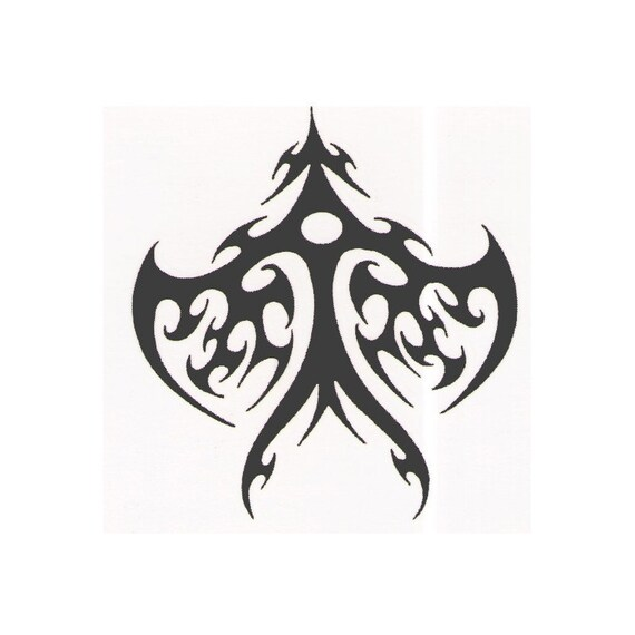 Tribal Designer Temporary Tattoo Design 2X2 Inch Ideas And Designs