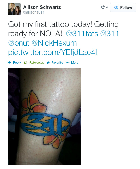 In Honor Of 311 Day Here Are The 311 Best 311 Tattoos Ideas And Designs