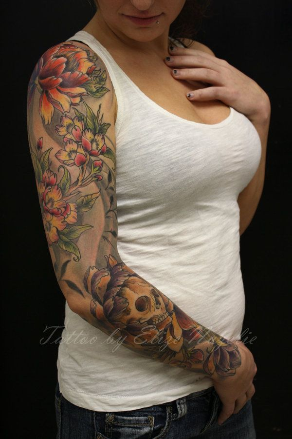 16 Best 1 4 Sleeve Tattoos For Women Images On Pinterest Ideas And Designs