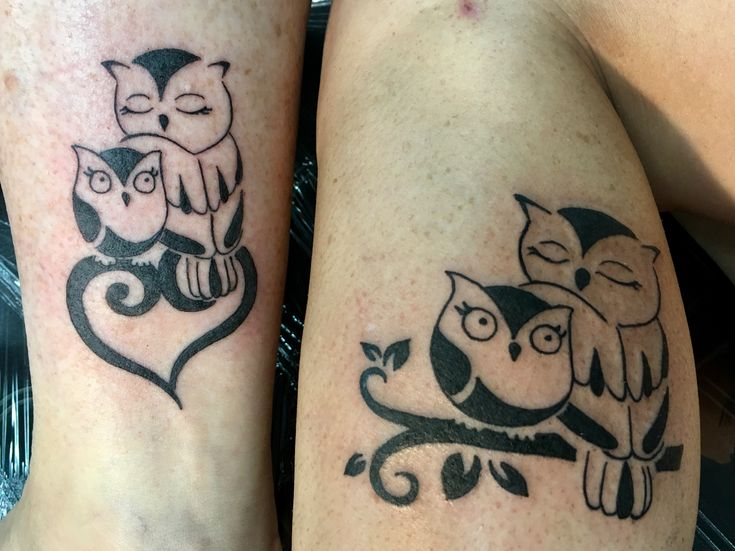 Matching Mother Daughter Owl Tattoos By Danielle Oberosler Ideas And Designs