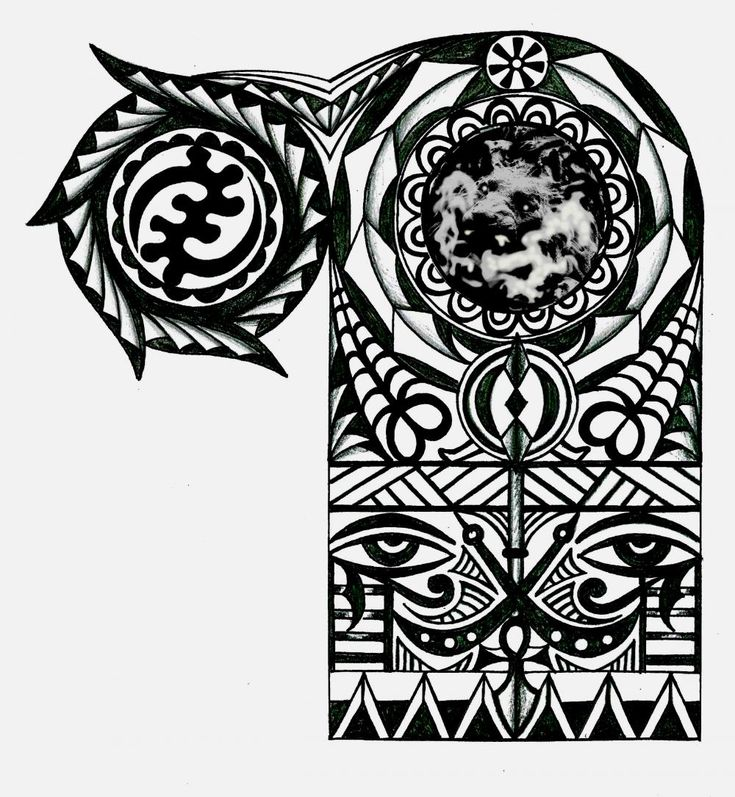 Adinkra African Warrior Tribal Half Sleeve Tattoo Tattoo Ideas And Designs