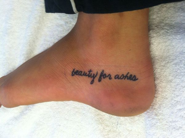 Foot Bible Verse Tattoo Body Ink Verse Tattoos Ideas And Designs