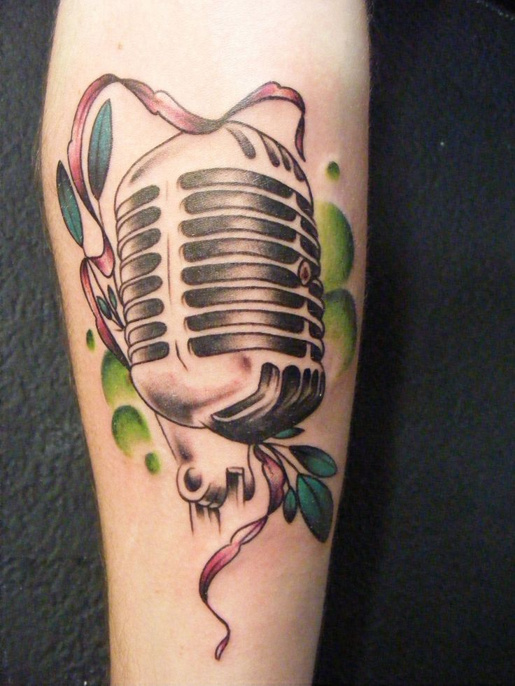 41 Best Microphone Tattoo Images On Pinterest Microphone Ideas And Designs