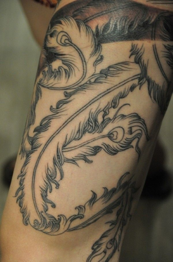 100 Best Feather Tattoos Images On Pinterest Feather Ideas And Designs