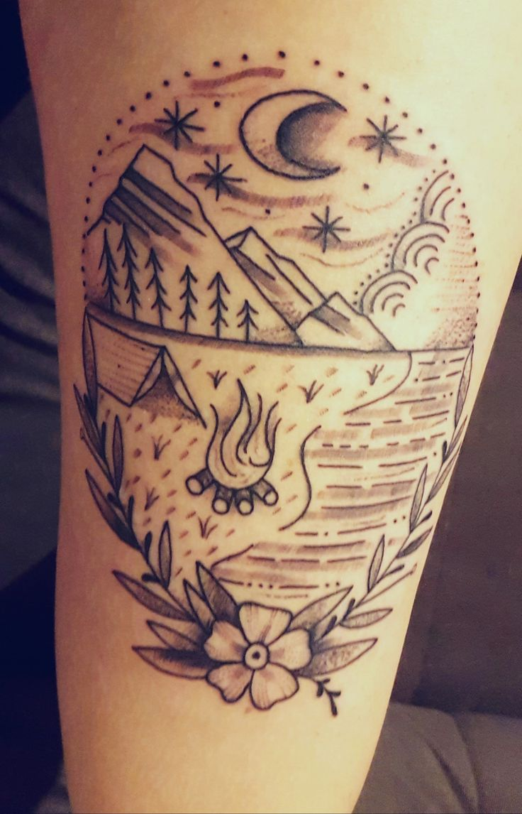 Best 25 Camping Tattoo Ideas On Pinterest Outdoor Ideas And Designs