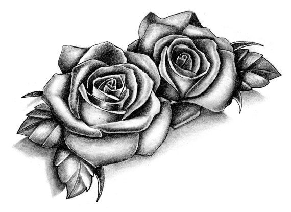 2 Boards Of Temporary Tattoos In The Roses Style Each Of Ideas And Designs