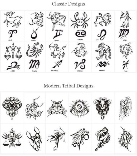 Tattoo Designs Of Zodiac Signs Here Are Some Other Related Ideas And Designs