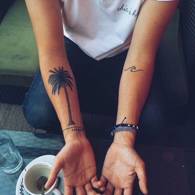Best 25 Palm Tree Tattoos Ideas On Pinterest Ankle Ideas And Designs
