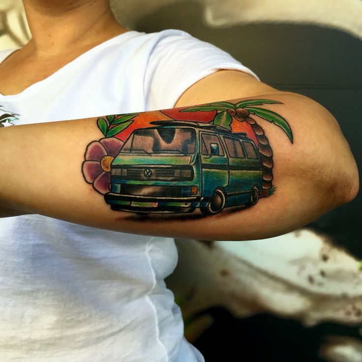 30 Best Kombi Ink Kombi Tattoo Vw Tattoo Images On Ideas And Designs
