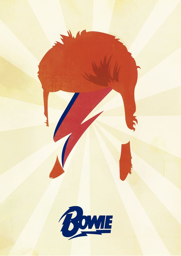 David Bowie Aladdin Sane On Behance David Bowie Ideas And Designs