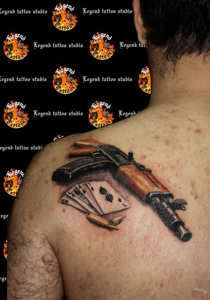 Ak 47 Tattoo Gun Tattoo Www Legendtattoo Gr Realistic Ak47 Ideas And Designs