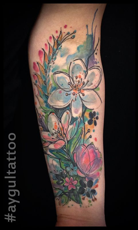 Best 25 Watercolor Tattoo Sleeve Ideas On Pinterest Ideas And Designs