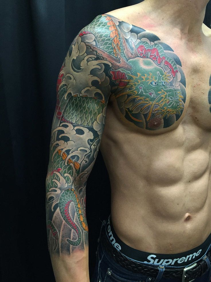 45 Best 3 4 Sleeve Japanese Dragon Tattoos Images On Ideas And Designs