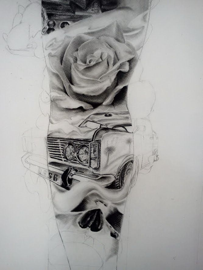 43 Best Classic Car Sleeve Tattoo Idea Images On Pinterest Ideas And Designs
