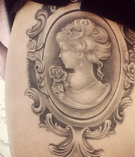 Best 25 Cameo Tattoo Ideas On Pinterest Frame Tattoos Ideas And Designs