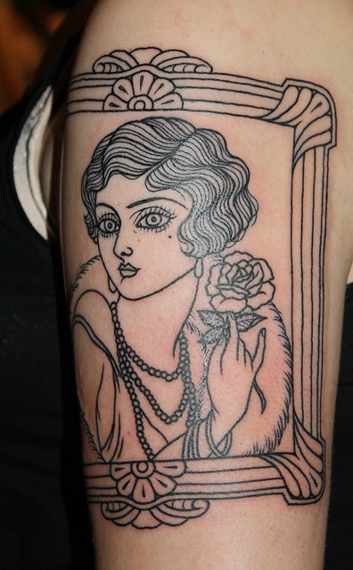 Best 25 Flapper Tattoo Ideas On Pinterest Traditional Ideas And Designs