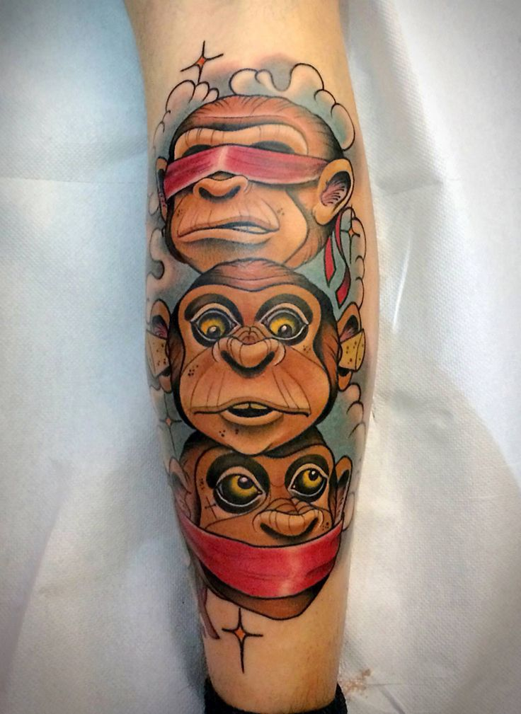 New School Monkey Tattoo Pretty Awesome New Skool Tats Ideas And Designs