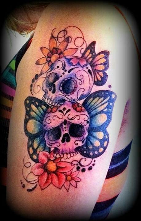 Girly Skull Tattoos With Flowers Tattoo Tattoos Girly Ideas And Designs