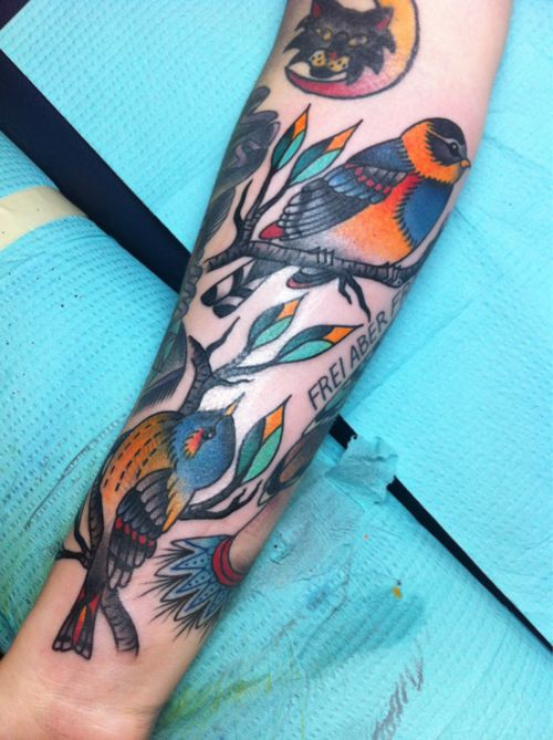 Best 25 Colorful Bird Tattoos Ideas On Pinterest Ideas And Designs