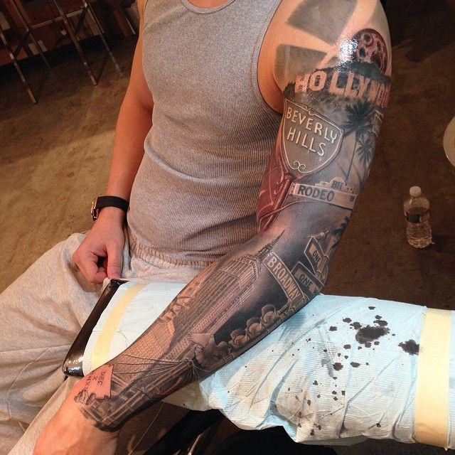 Amazingly Realistic New York To Cali Sleeve By Ideas And Designs