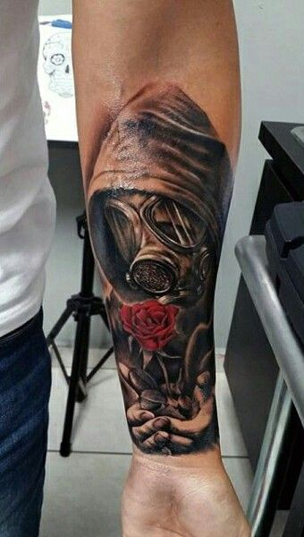 Gas Mask Rose Tattoo Tattoo Gas Mask Tattoo Sleeve Ideas And Designs