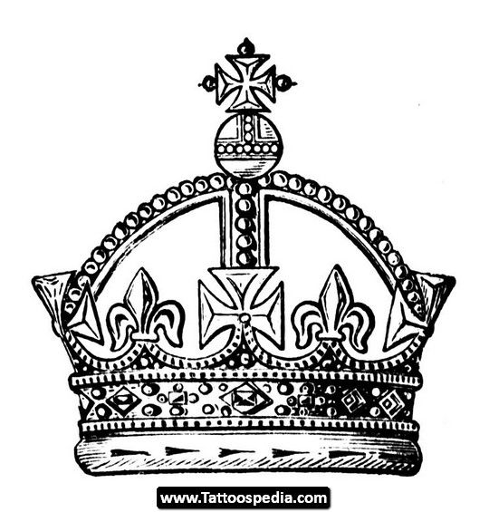22 Best Crown Tattoo Stencils Images On Pinterest Crowns Ideas And Designs