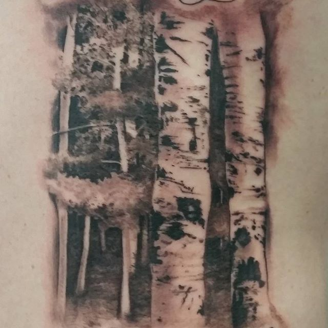Close Up Of Some Birch Trees I Did Birchtree Treetattoo Ideas And Designs
