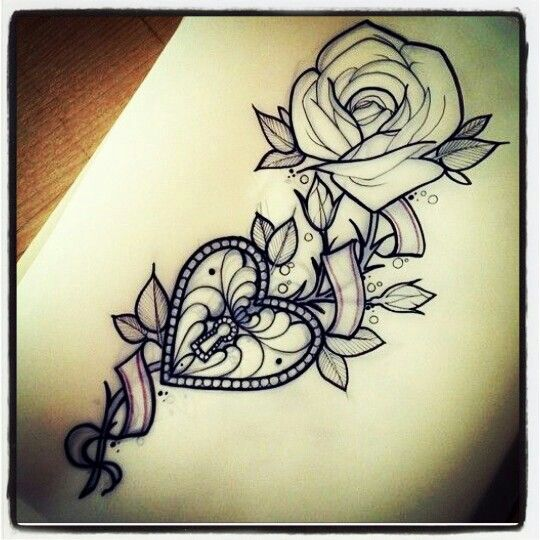 Heart Locket Rose Tattoo Maybe Just Maybe Cool Ideas And Designs