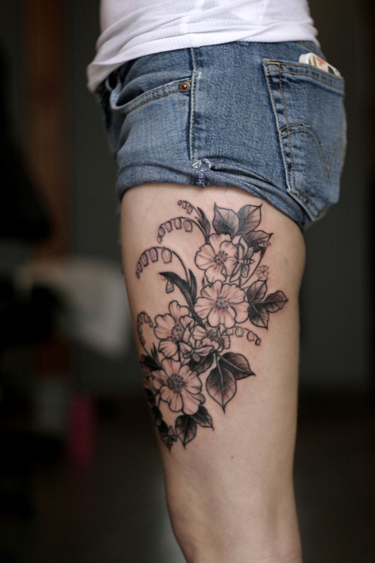 30 Best Flower Knee Tattoos For Women Images On Pinterest Ideas And Designs