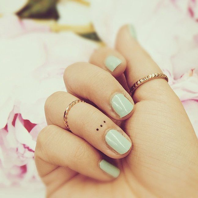 38 Best Three Dots Tattoo On Finger Images On Pinterest Ideas And Designs