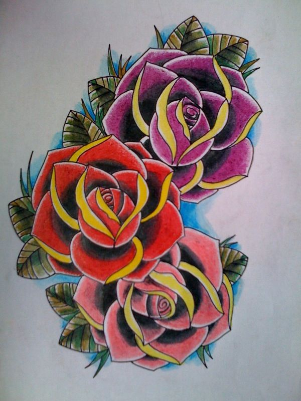 3 Roses By Kirzten All Things Girly Tattoos Tattoo Ideas And Designs