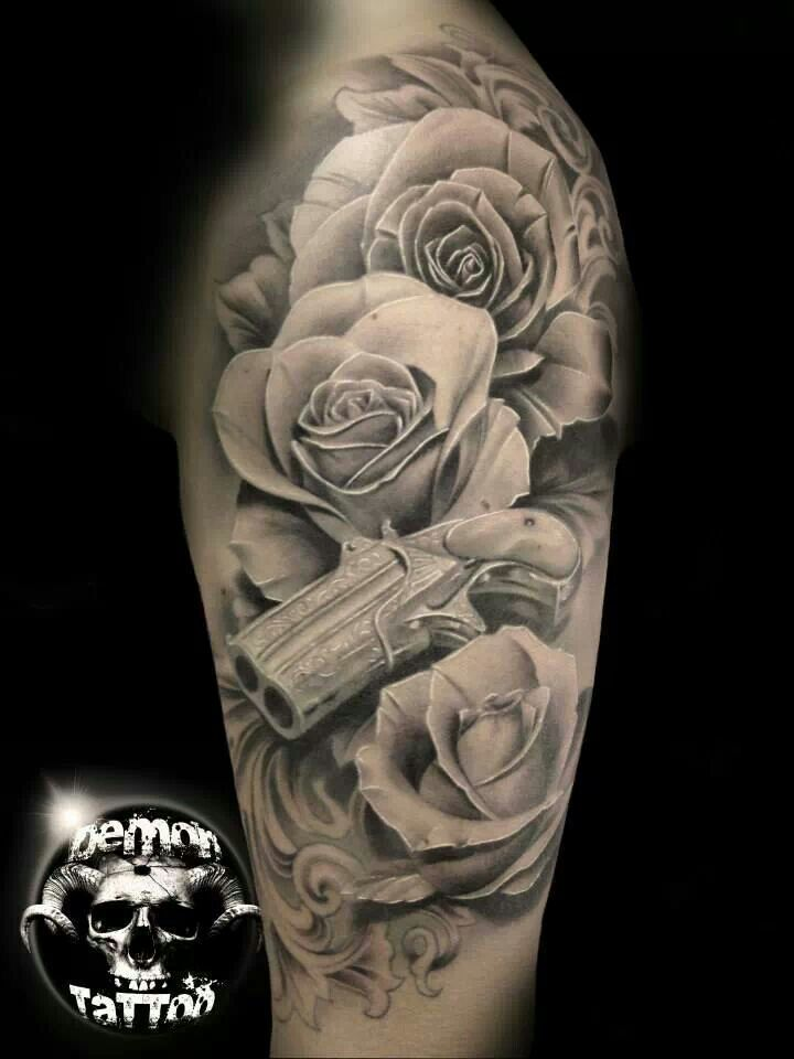 Rose Tattoo Black And Grey Arm Black And Gray Roses And Ideas And Designs