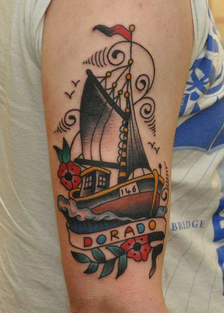 Best 25 Boat Tattoos Ideas On Pinterest Pirate Tattoo Ideas And Designs