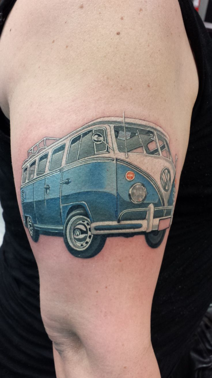 16 Best Bus Tattoo S Images On Pinterest Vw Tattoo Vw Ideas And Designs