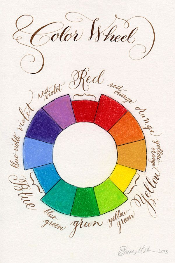 Calligraphy Color Wheel Paperwhitestudio Com For The Ideas And Designs