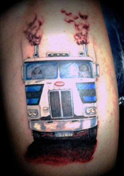Peterbilt Cabover Tattoo Heck Yeah Truck This And Ideas And Designs
