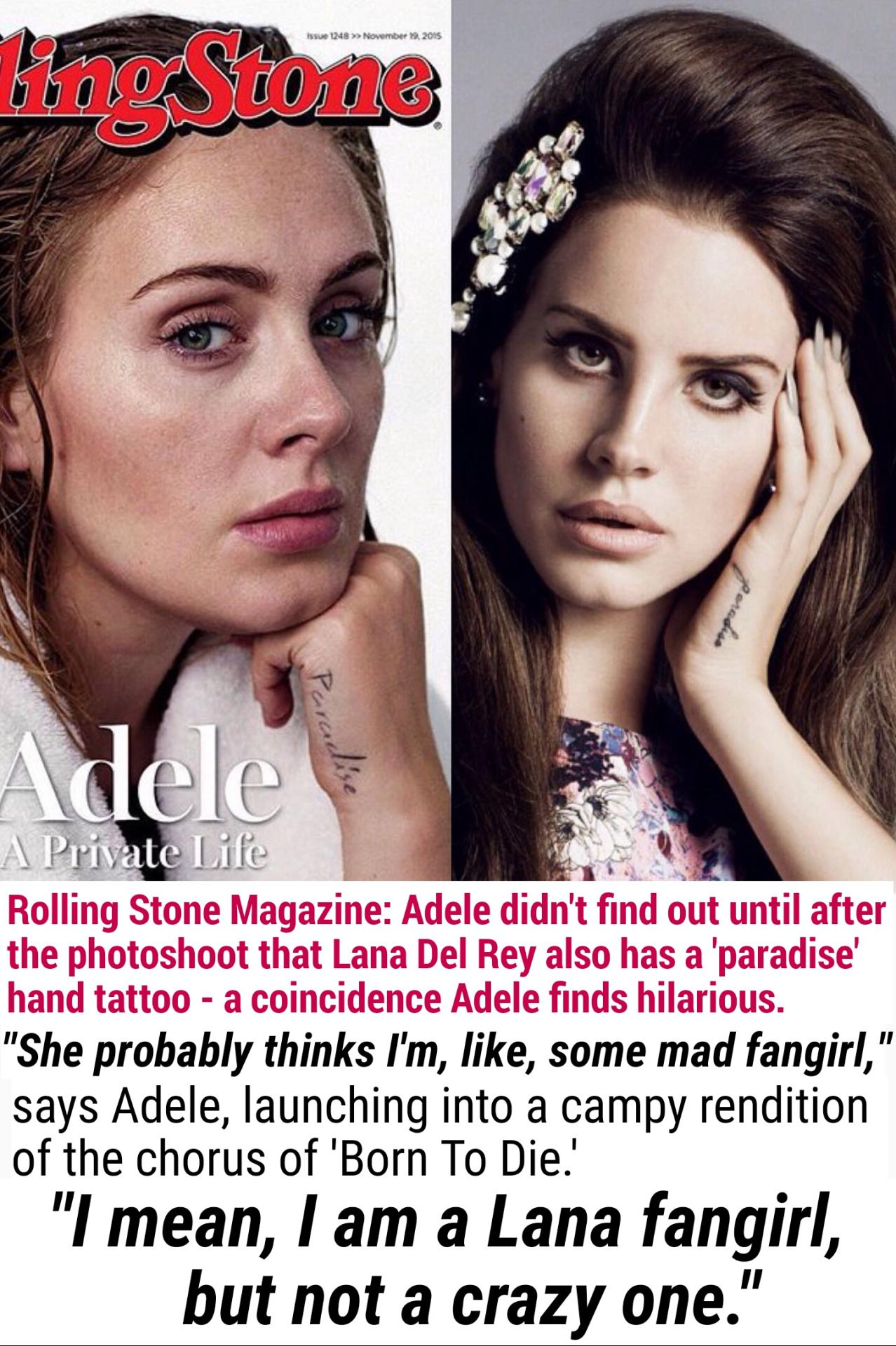 Adele Mentions Lana Del Rey A Third Time When She Ideas And Designs