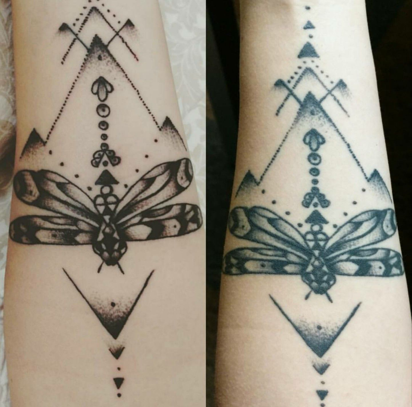My First Tattoo Day Of Vs One Year Later Tattoo By Chris Ideas And Designs