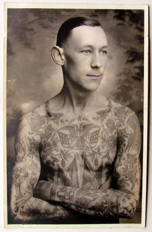 1920S Tattooed Man I Guess Nothing Really Changes Ideas And Designs