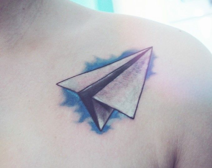 Paper Airplane Tattoo Must Get Matty Chuah Memphis Ideas And Designs