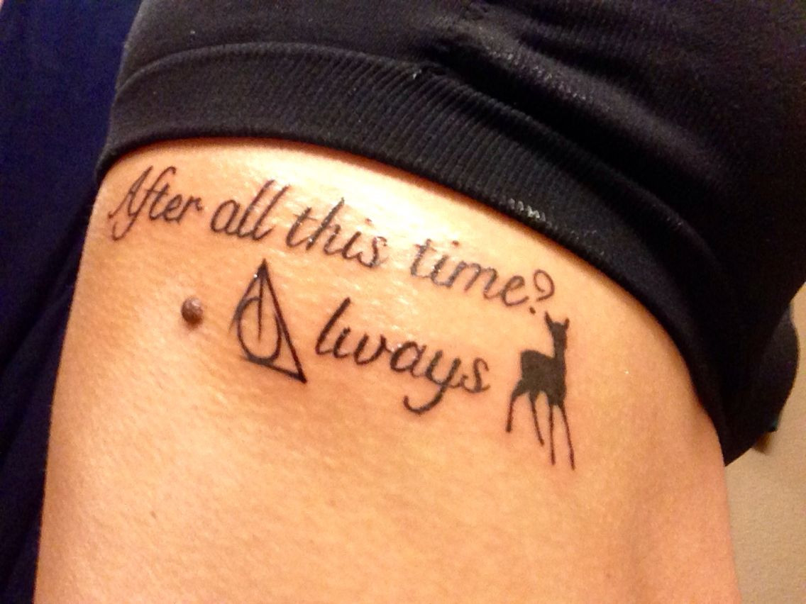 Harry Potter Tattoo Snape Tattoo Deathly Hallows After Ideas And Designs
