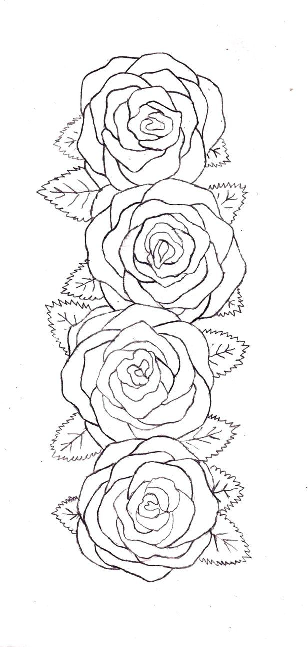 Rose Belt Outline By Destructiveentity On Deviantart Ideas And Designs