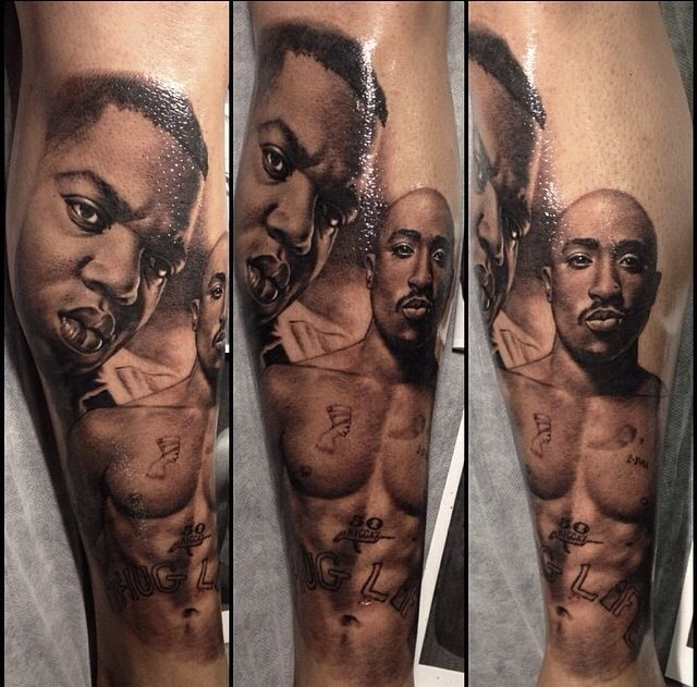 Art Work By Teneile Napoli Awesome Portrait Of Two Rap Ideas And Designs