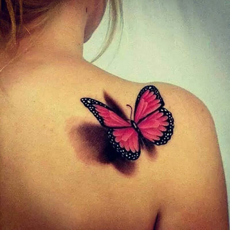 3 D Butterfly Cool Art 3D Butterfly Tattoo Butterfly Ideas And Designs