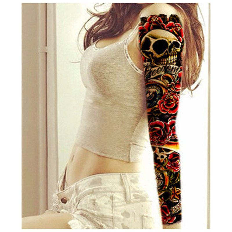 3Pcs 3D Tattoo Sleeve Waterproof Tattoos Body Art Full Arm Sticker Handsome Tatouage Temporary Ideas And Designs