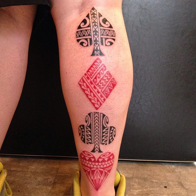 Mony Tattoo Suits Of Cards Arty Hard Tattoos Card Ideas And Designs